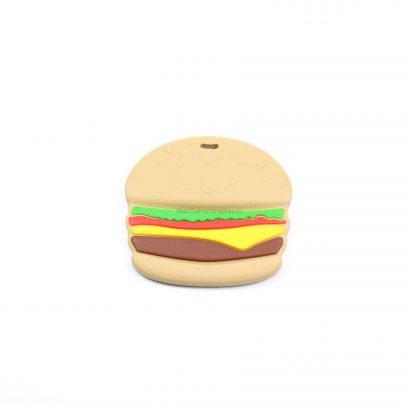Siliconen bijtfiguur hamburger