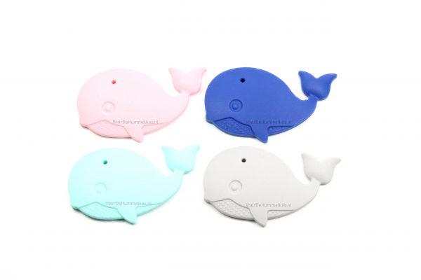 Siliconen bijtfiguur walvis