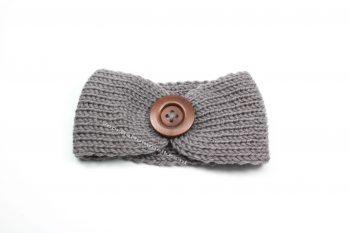Haarbandje garen grijs knoop