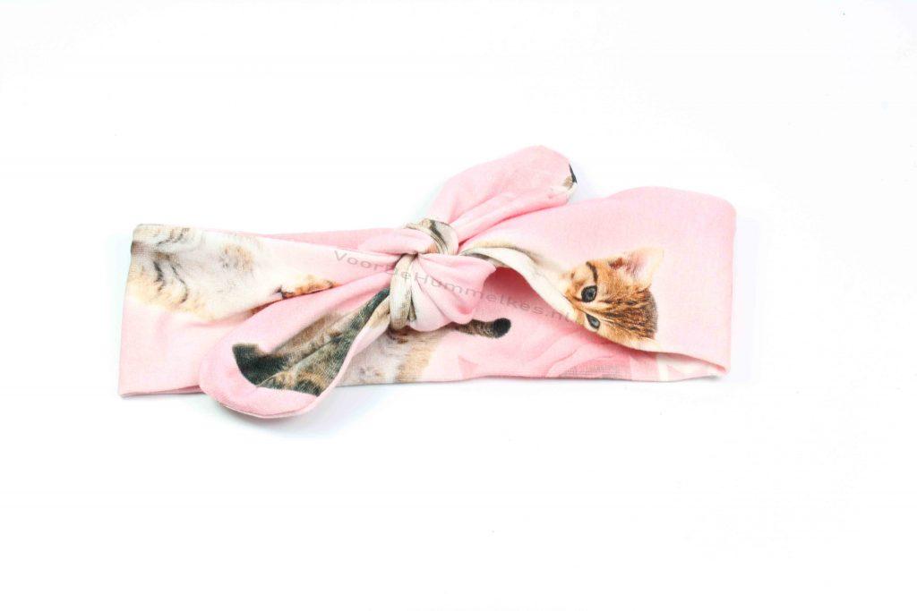 Haarbandje met poezenopdruk by Kel's
